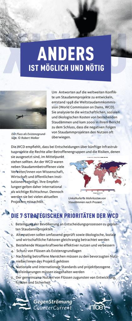 Weltstaudammkonferenz-RollUp-Gegenstroemung