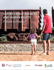 """Titel ECA-Watch-Broschüre: """"ECAs and Human Rights. Failure to Protect"""""""